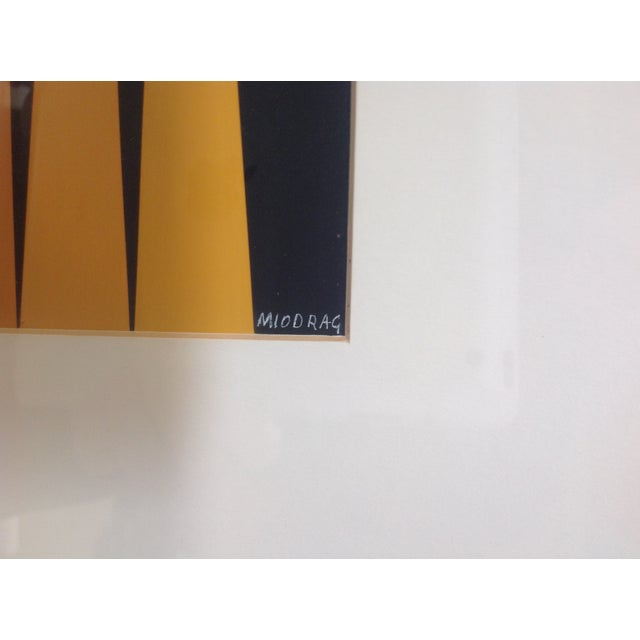 Mid-Century Modern Op-Art Painting by Dordevic Miodrag For Sale - Image 3 of 5