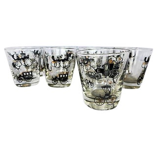 Mid-Century Automobile Bar Tumblers - 9 For Sale