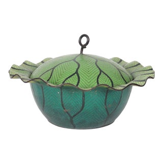 20th Century Cloisonne Cabbage Bowl For Sale