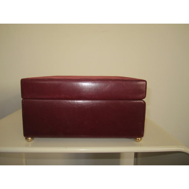 Mark Cross Italian Suede & Leather Jewelry Box - Image 9 of 10