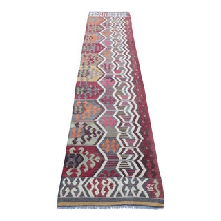 Turkish Antique Kilim Runner - 11' 10'' x 2' 9''