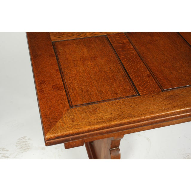 C.1940 Belgian Trestle Dining Table For Sale - Image 4 of 9