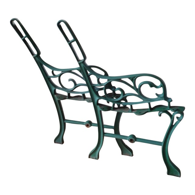 Vintage Iron Park Bench For Sale