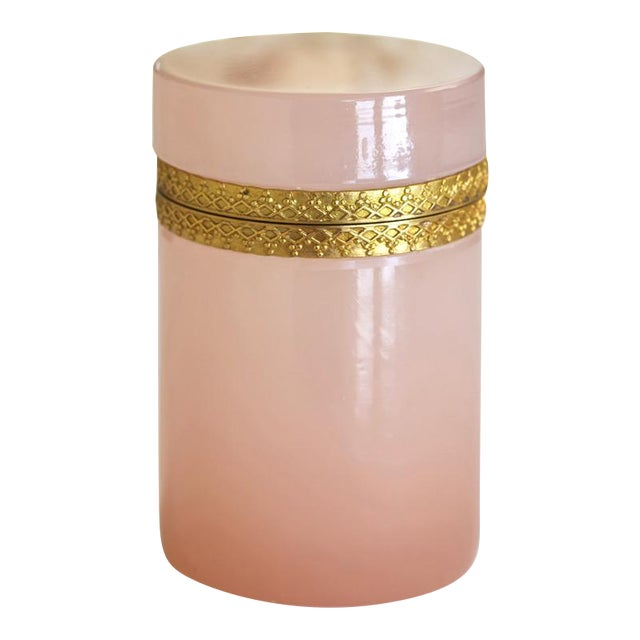 Antique French Pink Opaline & Bronze Dresser Box - Image 1 of 6