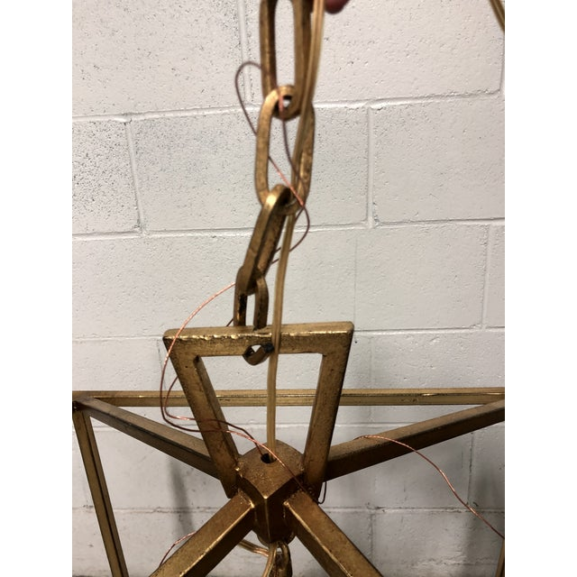 """2010s Visual Comfort """"Darlana"""" Large Lantern in Gilded Iron For Sale - Image 5 of 5"""