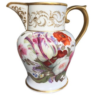 Paris Porcelain Neoclassical Pitcher For Sale