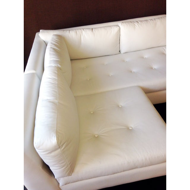 Modern White Faux Leather L-Shaped Sofa - Image 6 of 6