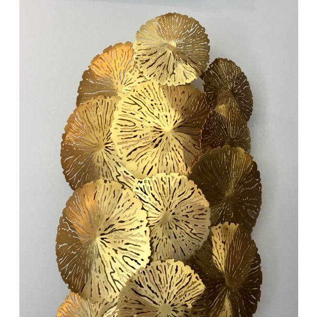 Studio A Home Showroom Studio a Home Modern Brass Lily Pad Sconces Pair - a Pair For Sale - Image 4 of 6