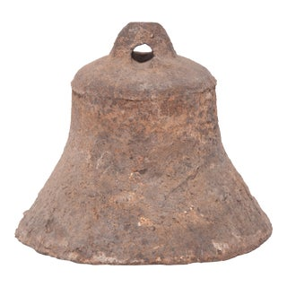 19th Century Chinese Flared Iron Bell For Sale