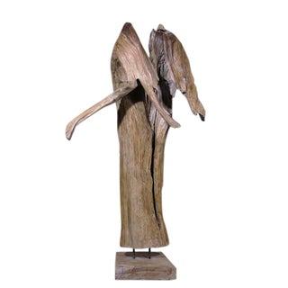 Organic Modern Table Top Teak Root Sculpture For Sale