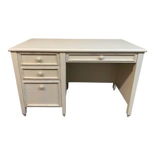 Pottery Barn Shabby Chic White Desk For Sale