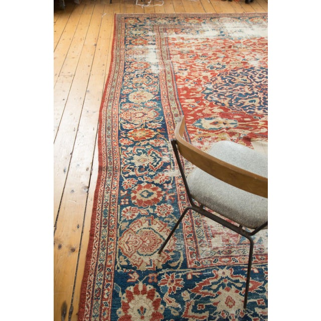 "Antique Distressed Ziegler Sultanabad Carpet - 9'9"" X 13'3"" For Sale - Image 9 of 10"
