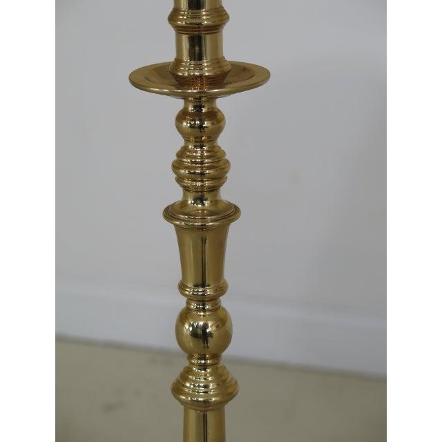 Ethan Allen Solid Brass Floor Lamp | Chairish