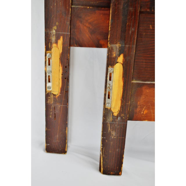 Vintage Hand Painted Wood Bed - Full Size For Sale - Image 10 of 11