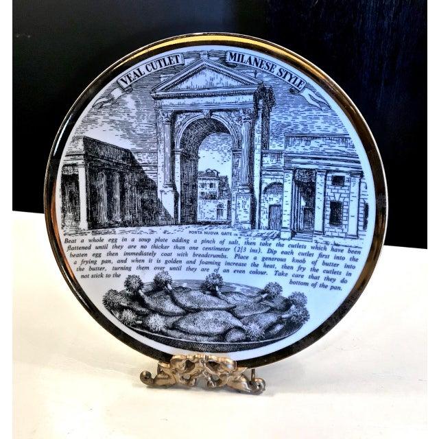 Mid-Century Fornasetti Italian Recipe Plates For Sale - Image 10 of 11
