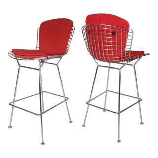 Vintage Modern Bar Stools by Knoll - a Pair For Sale