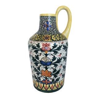 Vintage Boho Glazed Ceramic Candle Holder -- Spain For Sale
