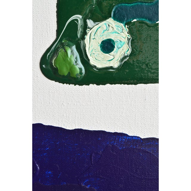 Blue & Green Brushless #18 Painting - Image 2 of 4