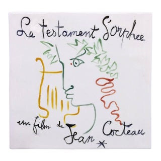 """Le Testament d'Orphee'' Tile by Jean Cocteau For Sale"