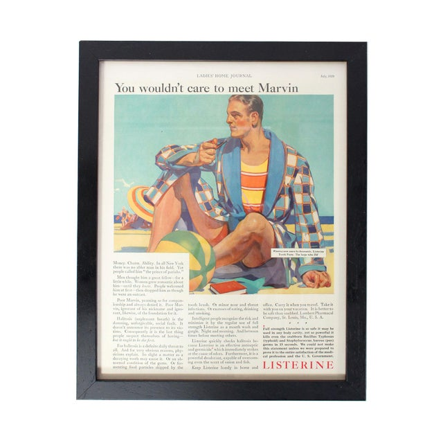 "Framed Listerine Advertisement From ""Ladies' Home Journal,"" July 1929 For Sale In Los Angeles - Image 6 of 6"
