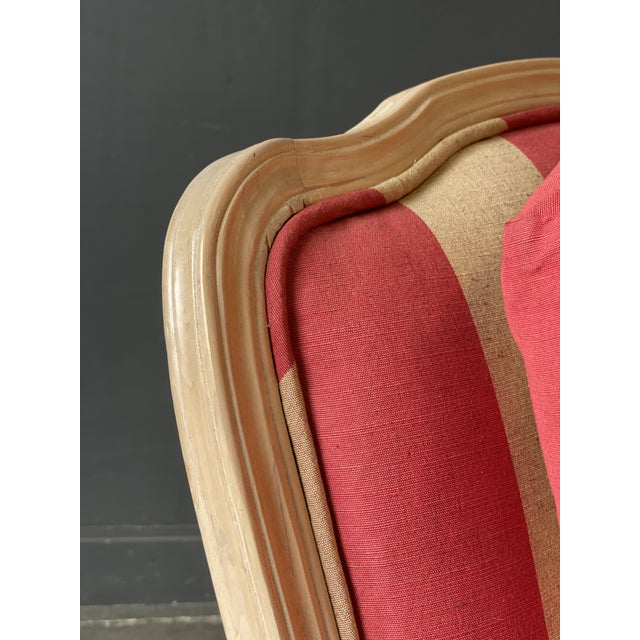 Wood French Country Style Lounge Chair and Ottoman a Pair For Sale - Image 7 of 11