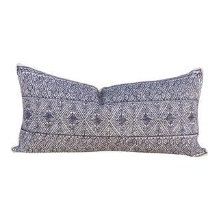 Matias Tenejapa Silk Embroidered Lumbar Pillow For Sale