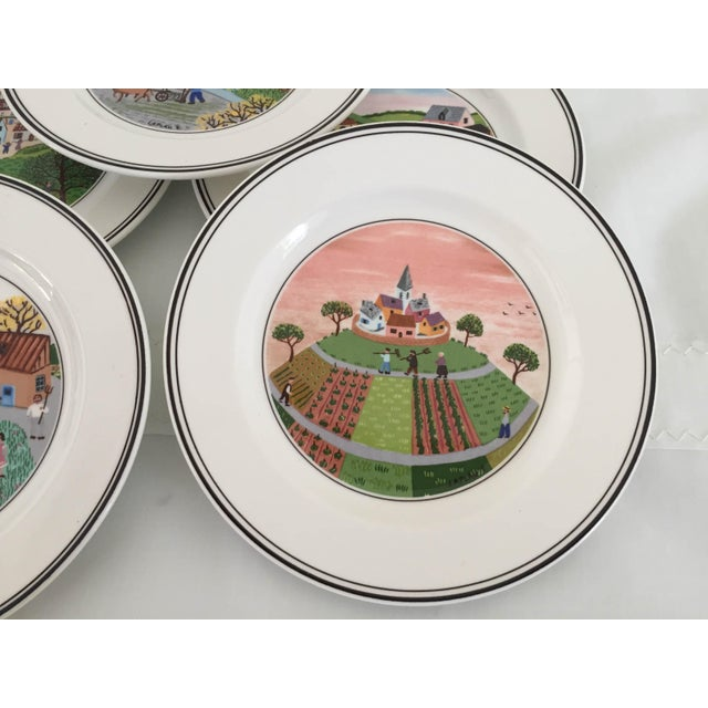 Villeroy & Boch Luxembourg Decorative Bread/Dessert Plates - Set of 6 For Sale - Image 5 of 6