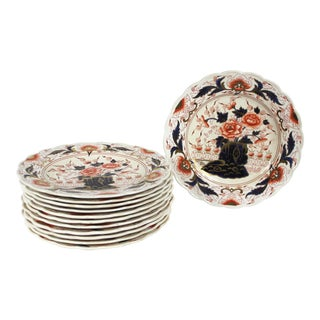 19th Century English Imari Dessert/ Salad Plates - Set of 12 For Sale