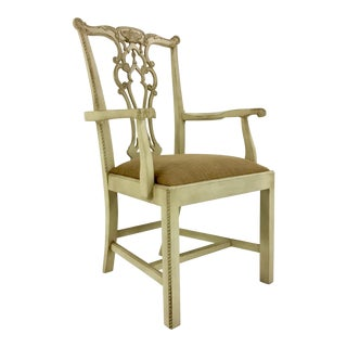Hickory Chair Rhode Island Chippendale Arm Chair For Sale