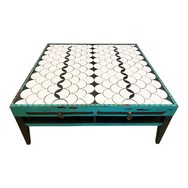 Tile Top Coffee Table For Sale