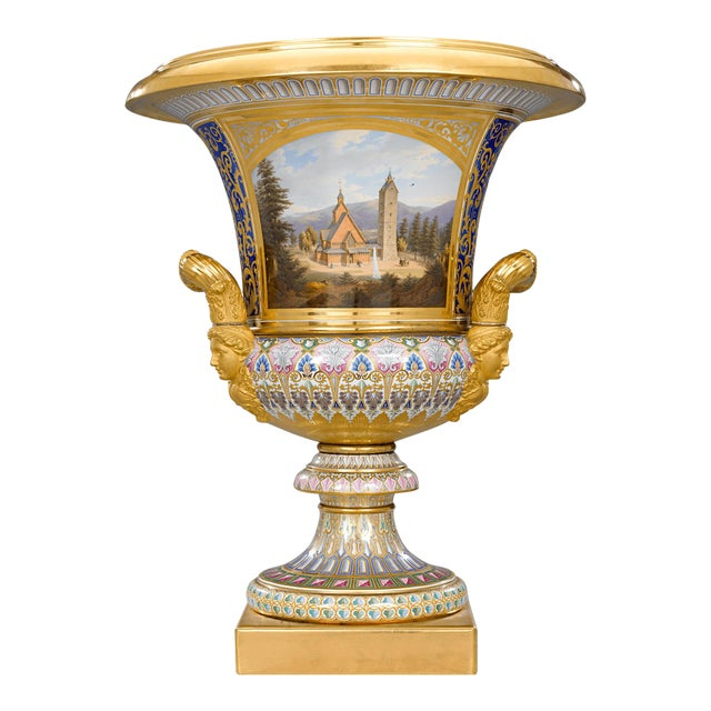Royal Kpm Porcelain Krater Vase For Sale