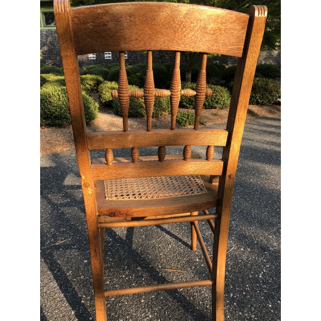 Antique Caned Chairs - a Pair - Image 2 of 5 - Antique Caned Chairs - A Pair Chairish