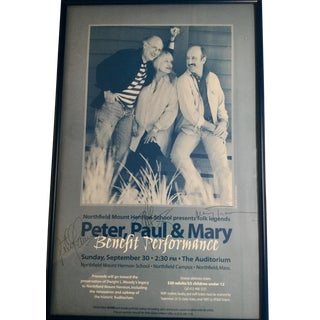 """""""Peter, Paul, and Mary"""" Signed Mini Poster For Sale"""