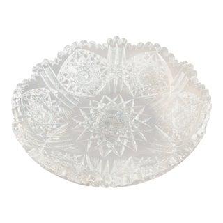 "9"" American Brilliant Period Cut Glass Bowl For Sale"