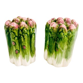 Fitz & Floyd Asparagus Salt and Pepper Set For Sale