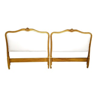 1960s French Provincial Drexel Heritage French Giltwood Twin Headboards - a Pair For Sale