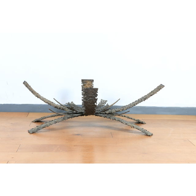 1960s 1960's Brutalist Bronze Coffee Table by Daniel Gluck For Sale - Image 5 of 6