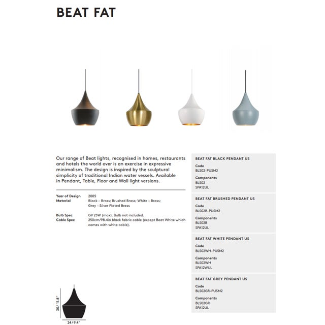 Tom Dixon Beat Fat Pendant Grey For Sale In Los Angeles - Image 6 of 8