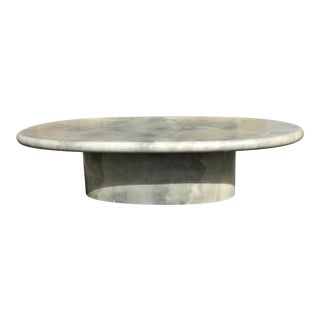 Monumental Mid Century Dining Table Goat Skin By Aldo Tura Circa 1970s