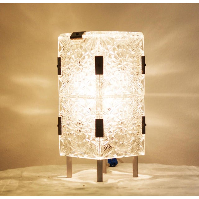 Aluminum Mid Century Pressed Table Lamp For Sale - Image 7 of 9