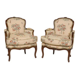18th Century Louis XV Oak Bergeres - a Pair For Sale
