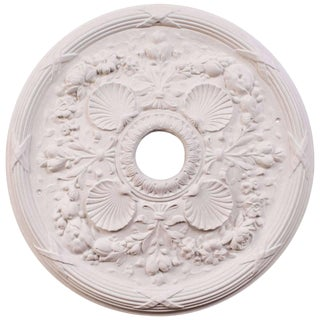 """Classic Shell"" Plaster Ceiling Medallions For Sale"