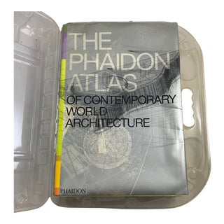 Phaidon Atlas of Contemporary Architecture, Collectible Book in Ghost Carry Case For Sale