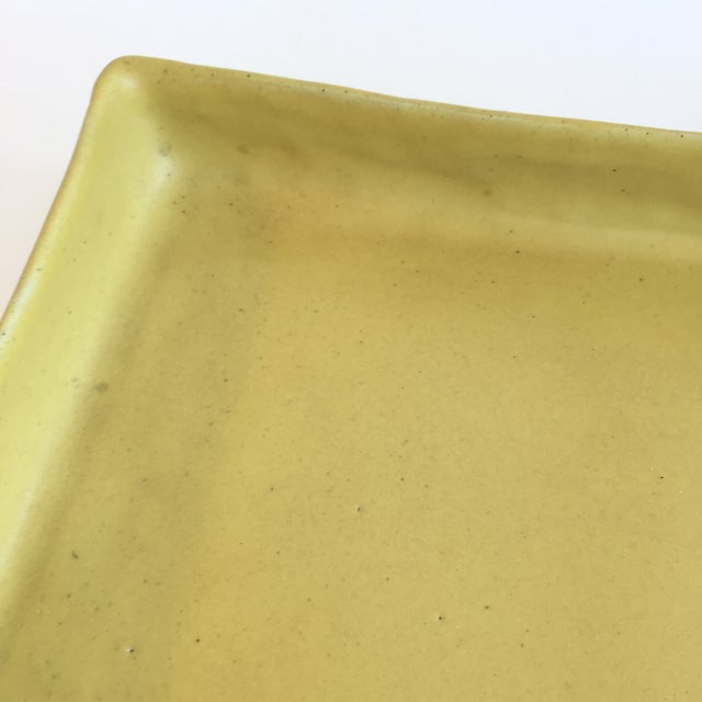 Christiane Perrochon Yellow Ceramic Tray For Sale - Image 4 of 5
