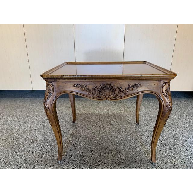 Wood 1980s Louis XVII Henredon Villandry Collection Side Table For Sale - Image 7 of 7