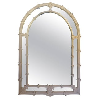 Serge Roche Style Palm Foliate Mirror For Sale