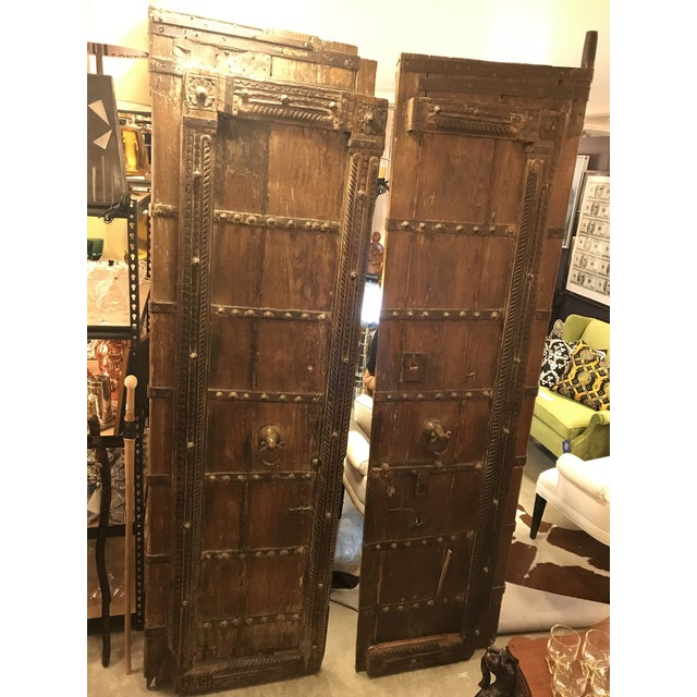 Original Antique Salvaged Hand-Made Indian Doors For Sale - Image 12 of 12