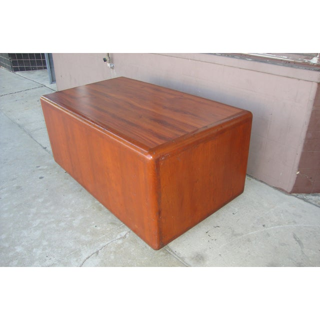 1970s Mid Century Wooden Coffee Table For Sale - Image 4 of 13
