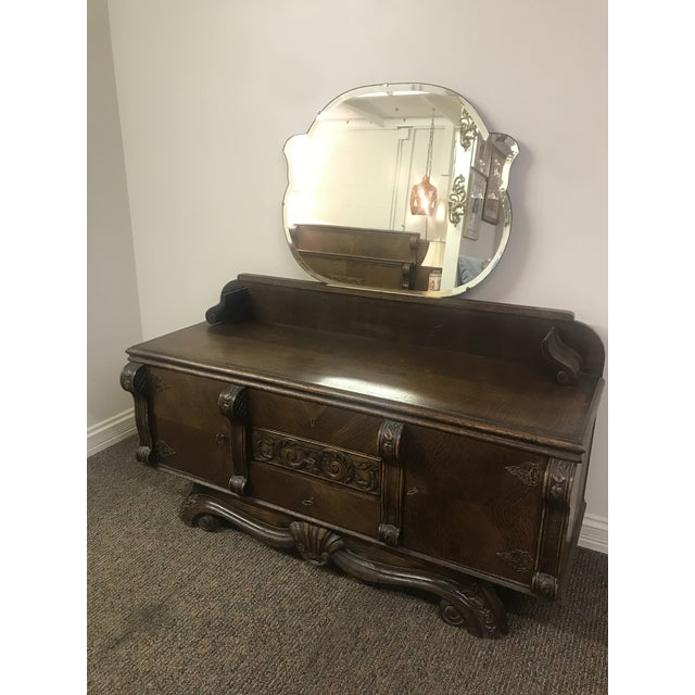 French 1920s Vintage Belgian Vanity and Stool For Sale - Image 3 of 7