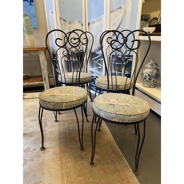 Metal 1950s Vintage Garden Chairs - Set of 4 For Sale - Image 7 of 7